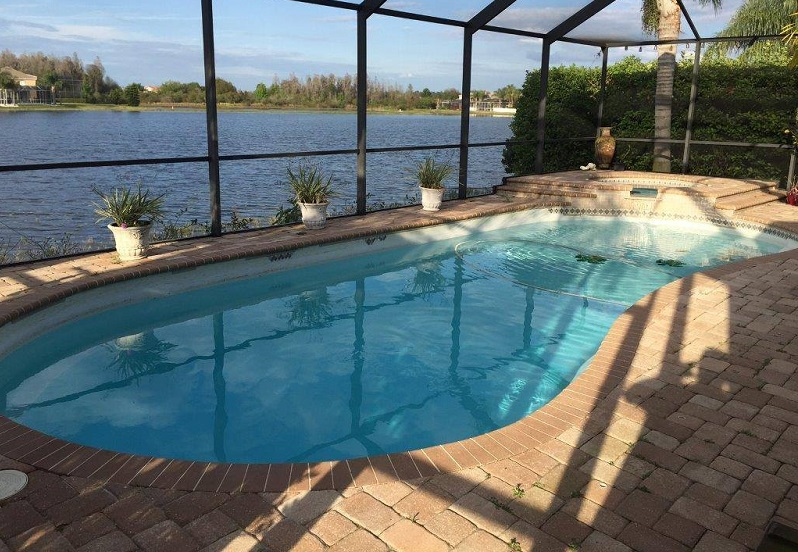 Home Fiberglass Swimming Pool Tiling